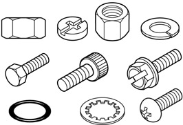 Nose Bearings-Washers-Shafts