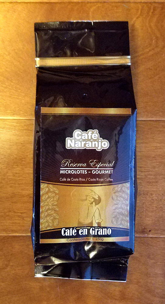 Cafe Naranjo SPECIAL RESERVE - 250g - WHOLE BEAN