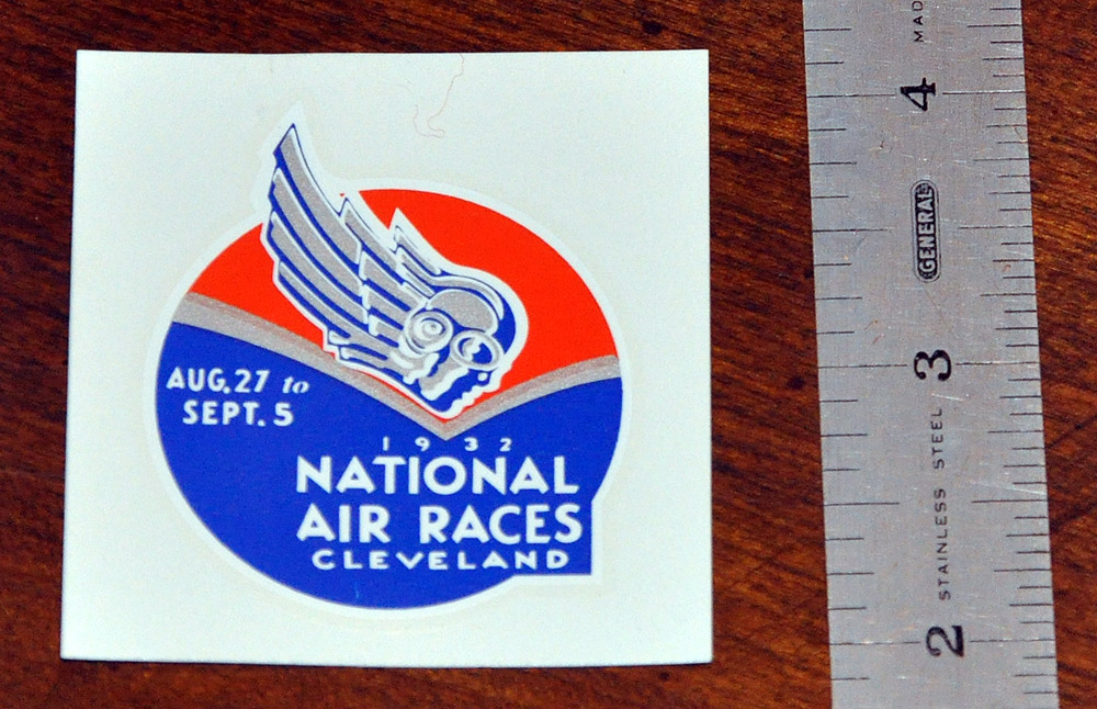 1932 National Air Races Decal