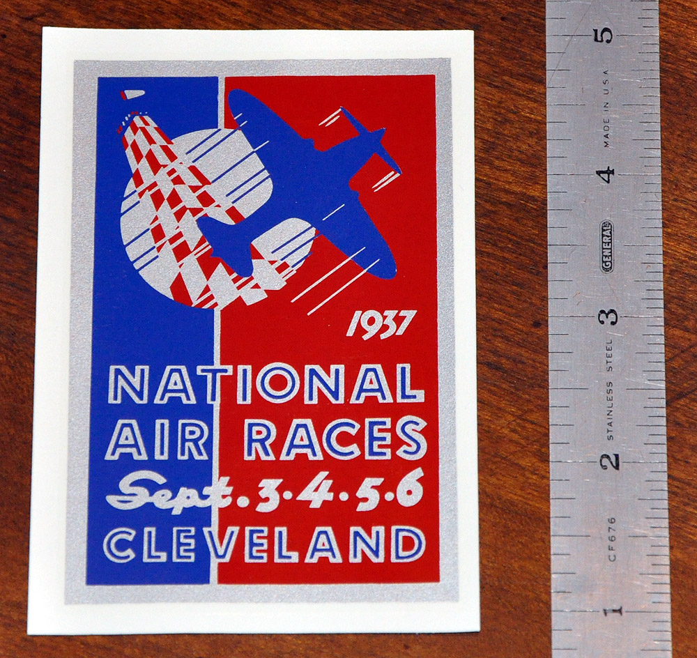 1937 National Air Races Decal