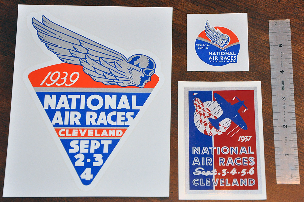 1932, 1937 and 1939 National Air Races Decals (reproductions)