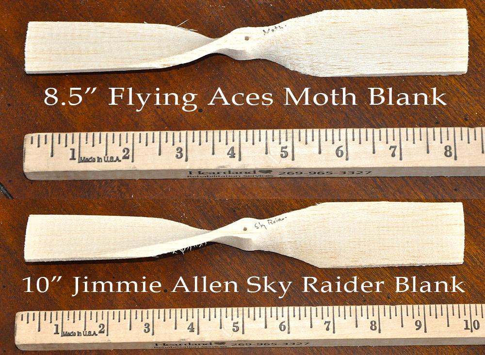 FA Moth and JA Sky Raider prop blanks