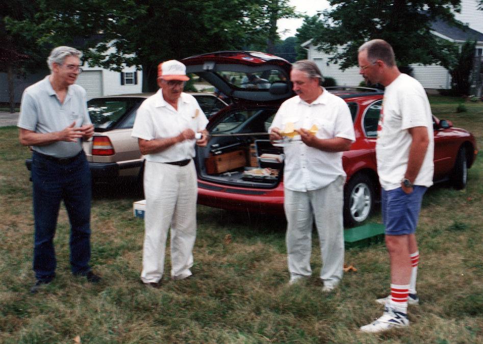 Russ Brown, Stu Weckerly, Dave Livesay, George Bredehoft - roughly 1996