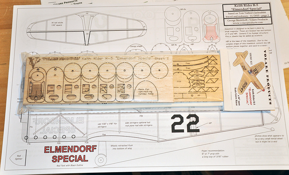 Keith Rider R-5 Elmendorf Special Scale Laser Cut Short Kit