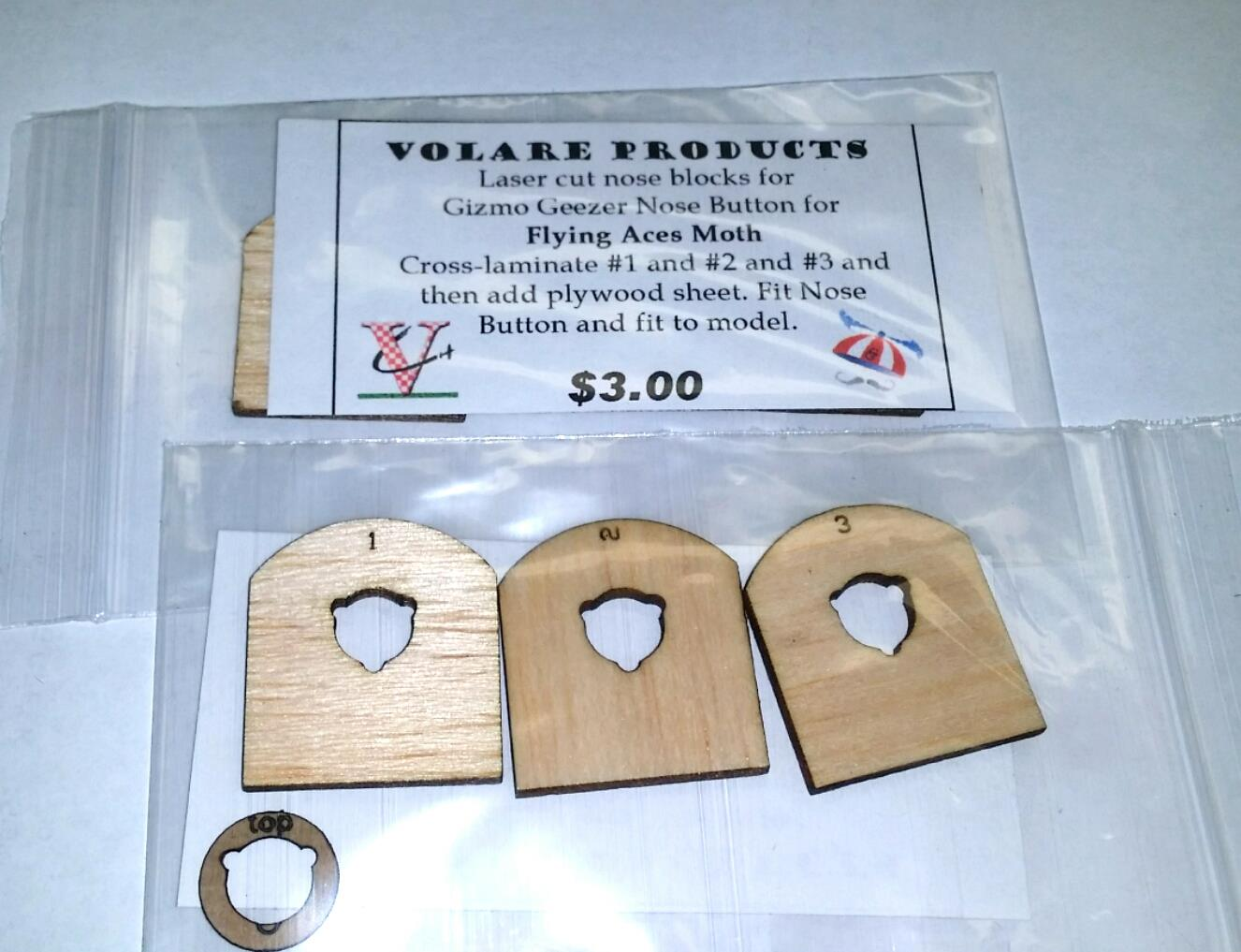 Gizmo Geezer FA MOTH Nose BLOCK Kit