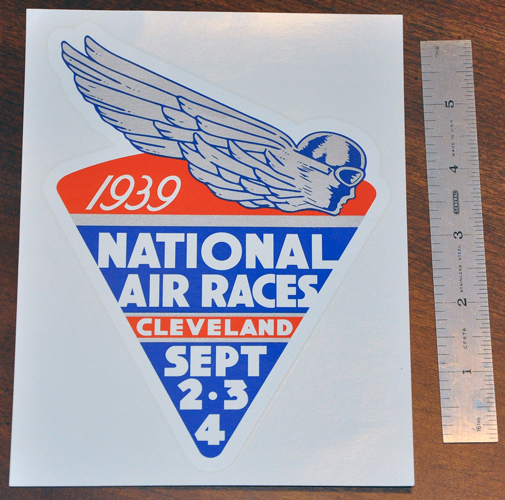 1939 National Air Races Decal