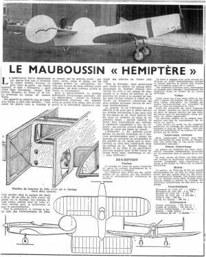 Mauboussin M40 Hémiptère Article - Source Unknown - Circa 1936