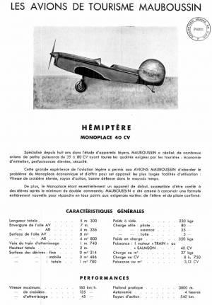 Mauboussin M40 Hémiptère Factory Brochure P1